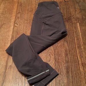 """Lululemon all the right places gray 23"""" pants Sz 2"""